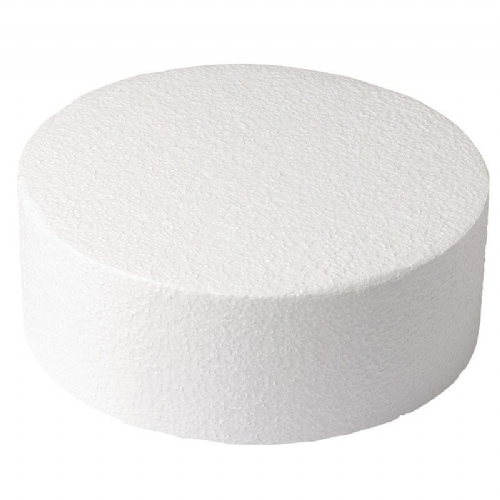 Round Straight Edged Polystyrene Cake Dummy - 10 x 5'' Deep